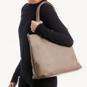 Sole Society Vegan Leather Taupe Bag Tote - NWOT